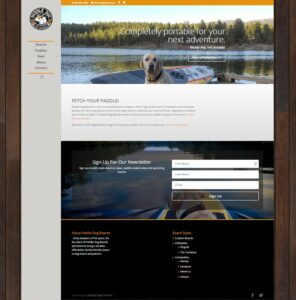 Paddle Dog Boards Website