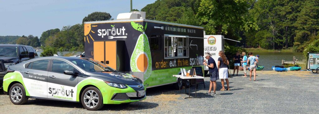 Eat Sprout Car Wrap and Trailer Wrap