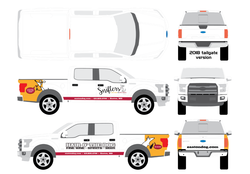 Snifters & Hair O the Dog Truck Wrap