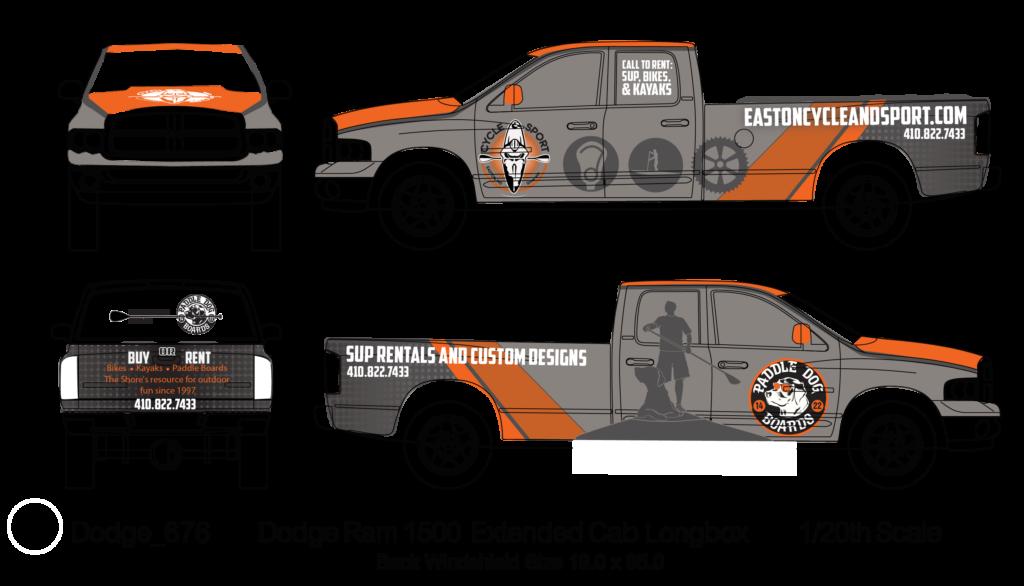 Easton Cycle & Sport Truck Wrap