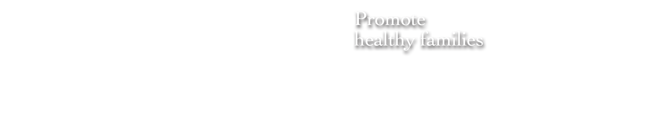 Promote healthy families
