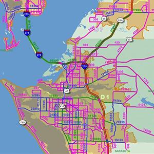 Bradenton Area Traffic Map