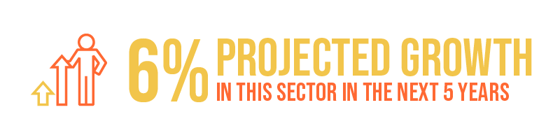 6% projected growth in this sector in the next 5 years