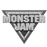 Monster Jam Black and White Logo