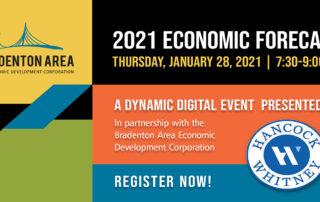 2021 Economic Forecast digital event flyer