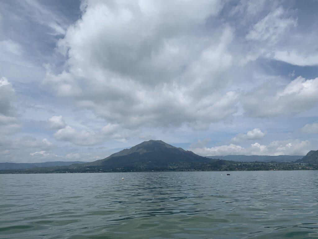 Mount Batur ... taken from its stunning crater lake