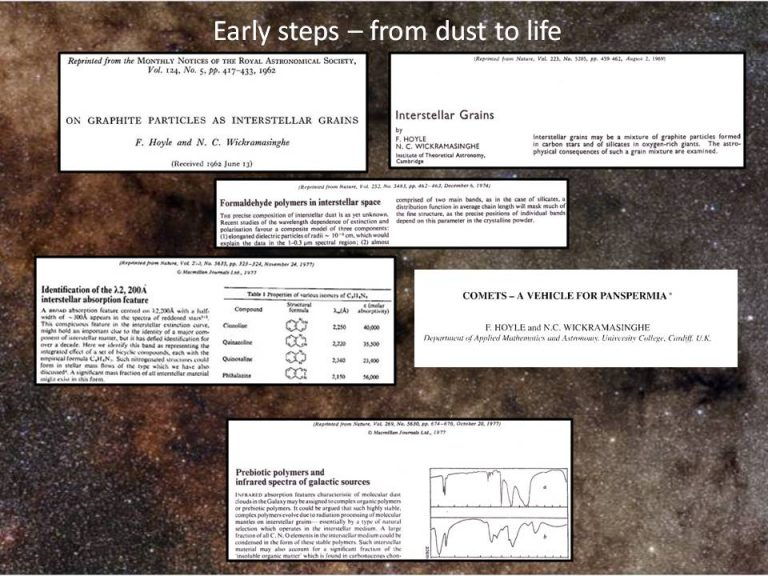 Early steps – from dust to life2