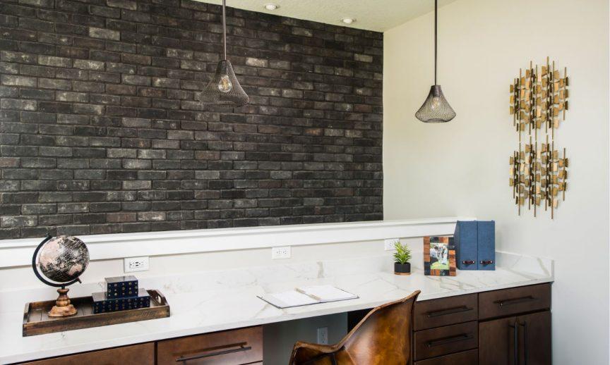 TundraBrick - Ironside - reNEWable Home - Stairwell Accent Wall_Progress Lighting
