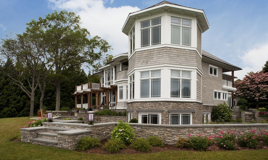 ES_Stacked Stone_Nantucket_Ext_Carr Residence_rear wide