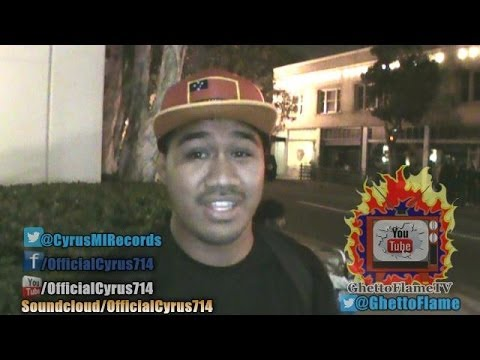"""""""Cyrus"""" Answers Questions With """"GhettoFlameTV"""" After Performing At BadHabbit's Birthday Celebration 10/19/13"""