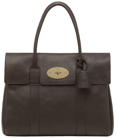 Mulberry Bayswater Chocolate Natural Leather With Brass, Mulberry, Handbag, Leather, Fashion, Accessories, Blog A Book Etc, Fay