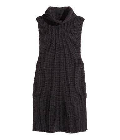 H&M Sleeveless Polo Neck Jumper, H&M, Polo Neck, Black, Jumper, Fashion, Blog A Book Etc, Fay