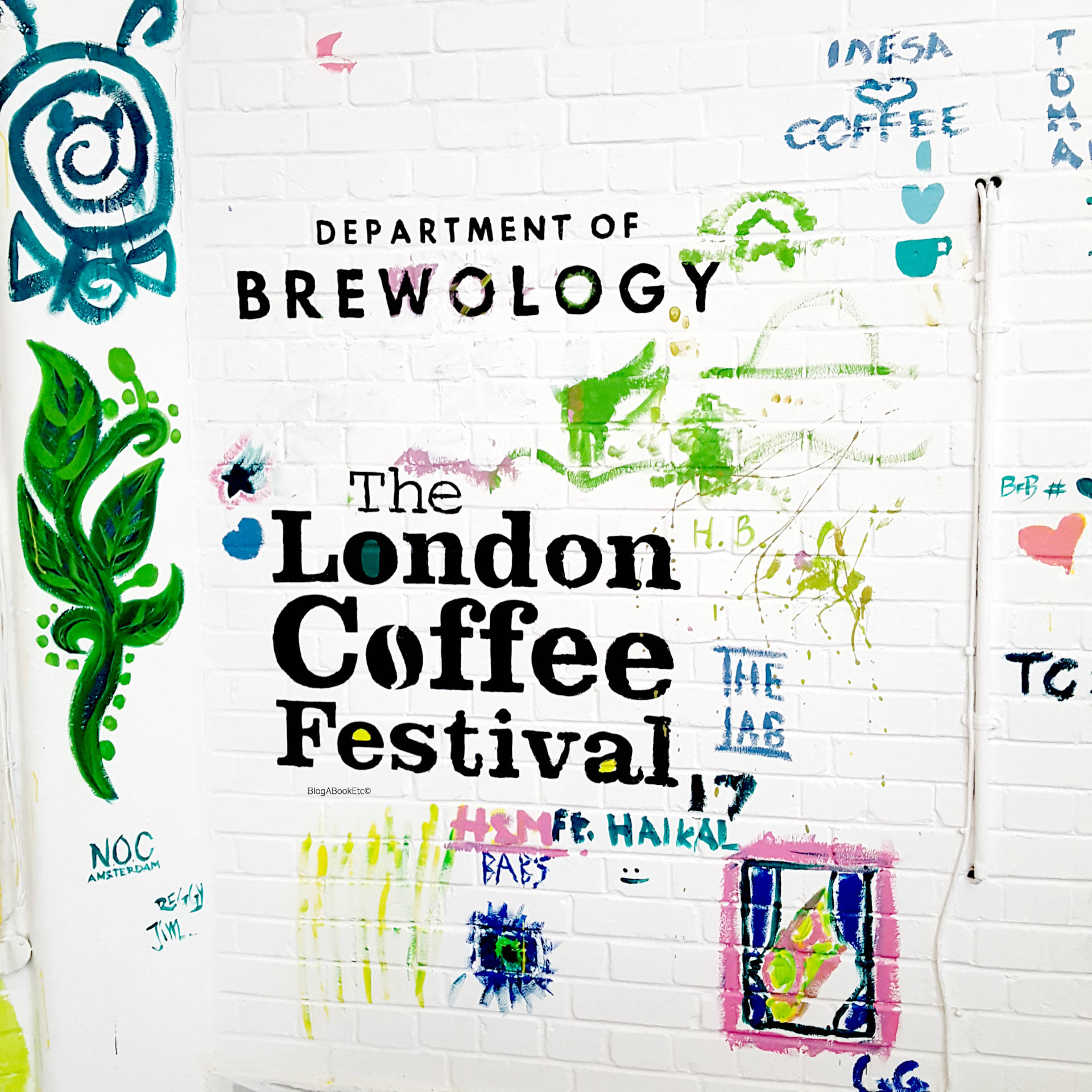 The London Coffee Festival 2017, London Coffee Festival, LCF17, Coffee, Festival, Coffee Festival, London, Wall Art, Street Art, Art, Mural, Filter Coffee, People, Life, Lifestyle, Blogger, London Blogger, Department of Brewology, Brew, Coffee Brew, Mural, Painting, Blog A Book Etc, Fay