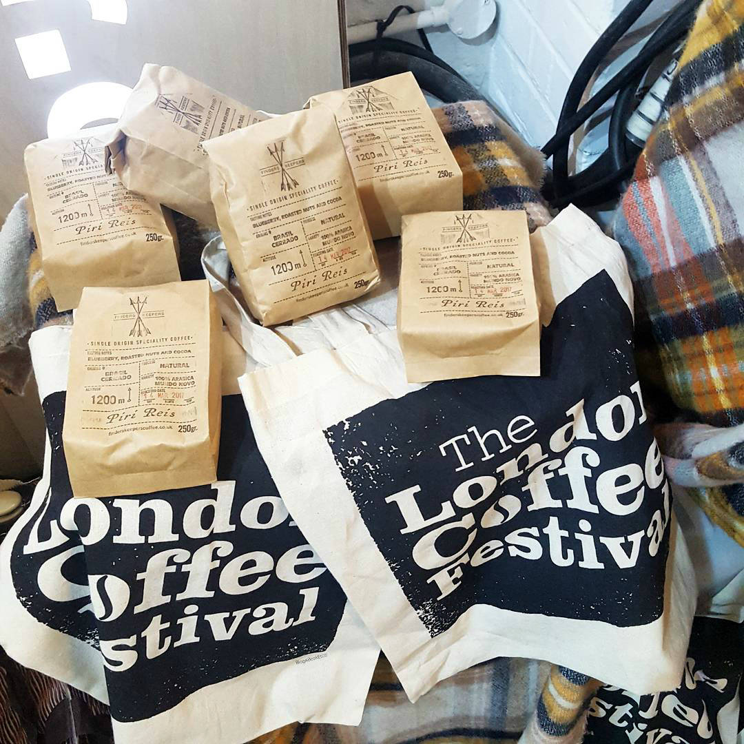 The London Coffee Festival 2017, London Coffee Festival, LCF17, Coffee, Festival, Coffee Festival, London, Wall Art, Street Art, Art, Mural, Filter Coffee, People, Life, Lifestyle, Blogger, London Blogger, Bags of Coffee, Tote Bags, Goodie Bags, Blog A Book Etc, Fay