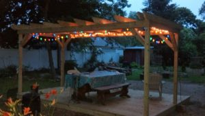 back yard pergola