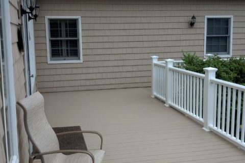 new decking installed exterior remodeling