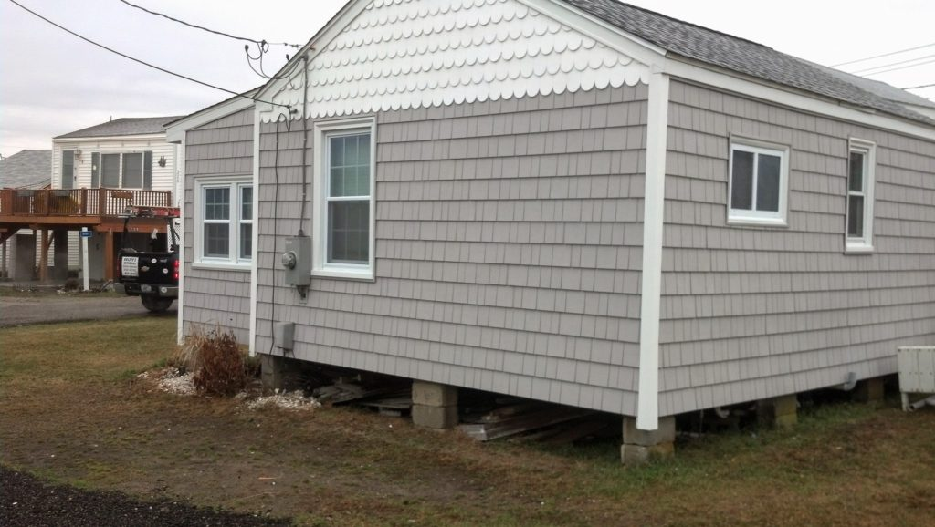 new siding on summer home