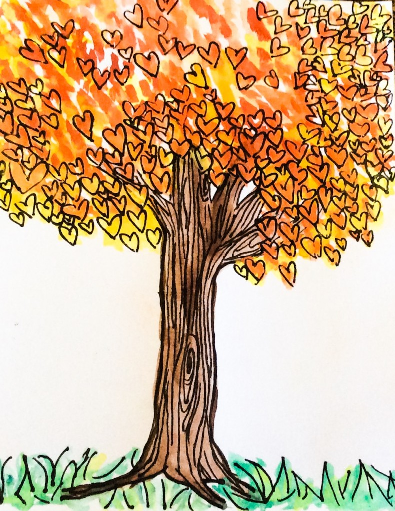 Gods love, tree of life. Artwork by Naomi Erickson