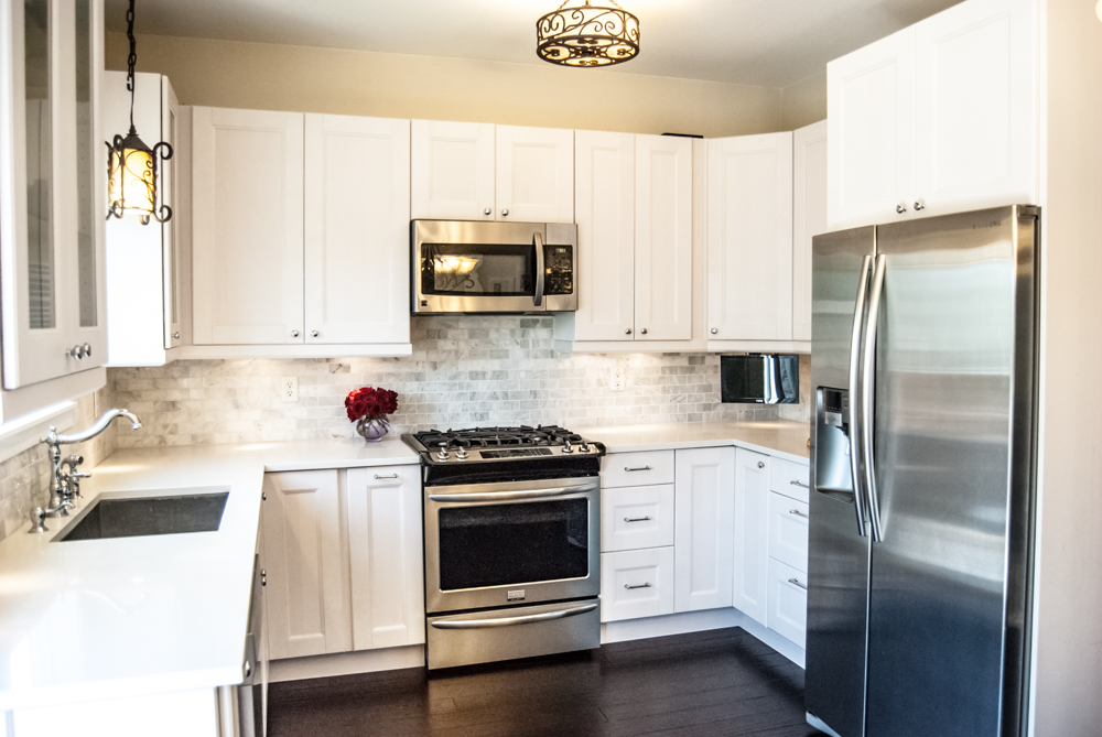 IKEA Kitchen AFTER remodel photos, Ramsjo Cabinets