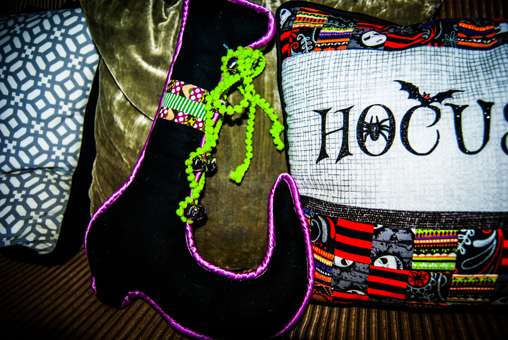 Halloween Witch Boot Pillow