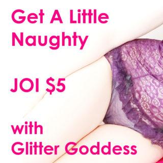 Naughty JOI Audio Glitter Goddess