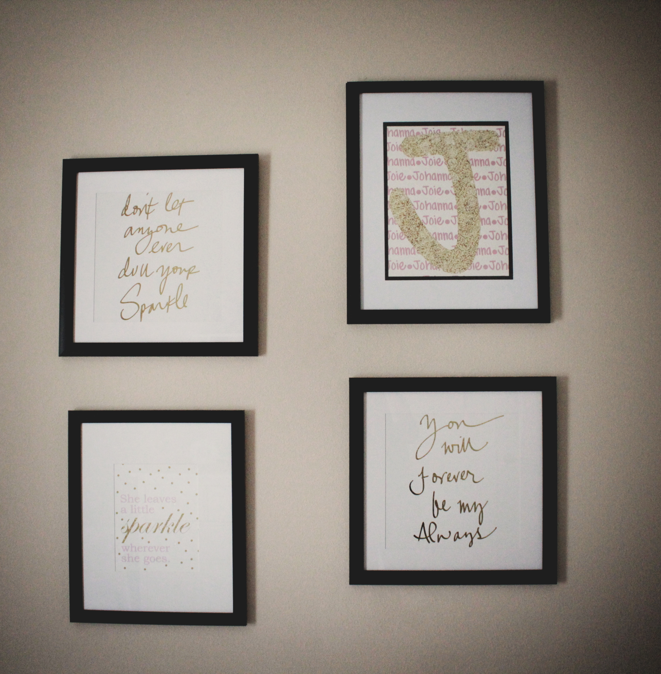 Montessori Style Girl Bedroom Gallery Wall