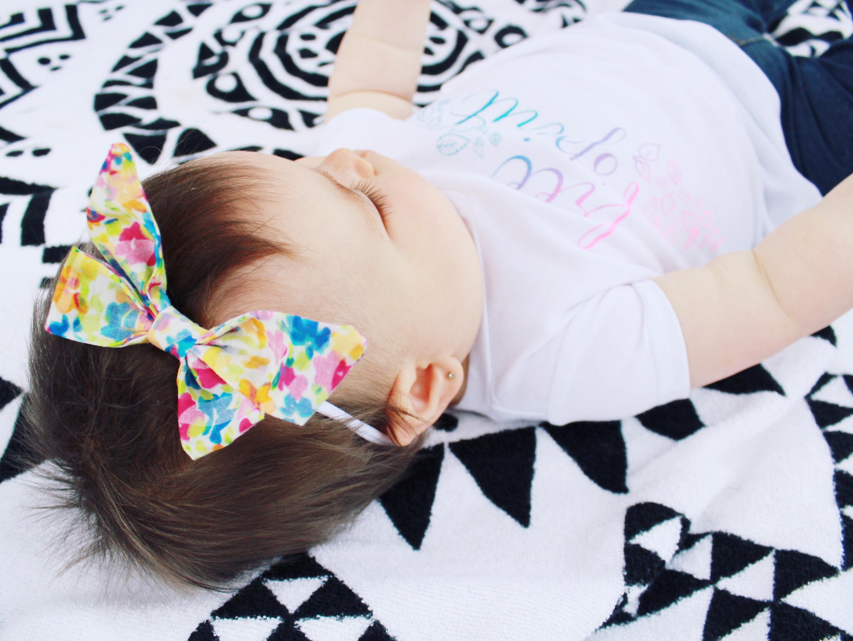 headband, baby bows, baby sailor bows