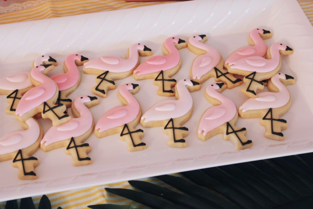Flamingo Cookies | Copacabana First Birthday Party