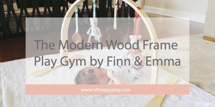 The Modern Wood Frame Play Gym by Finn & Emma