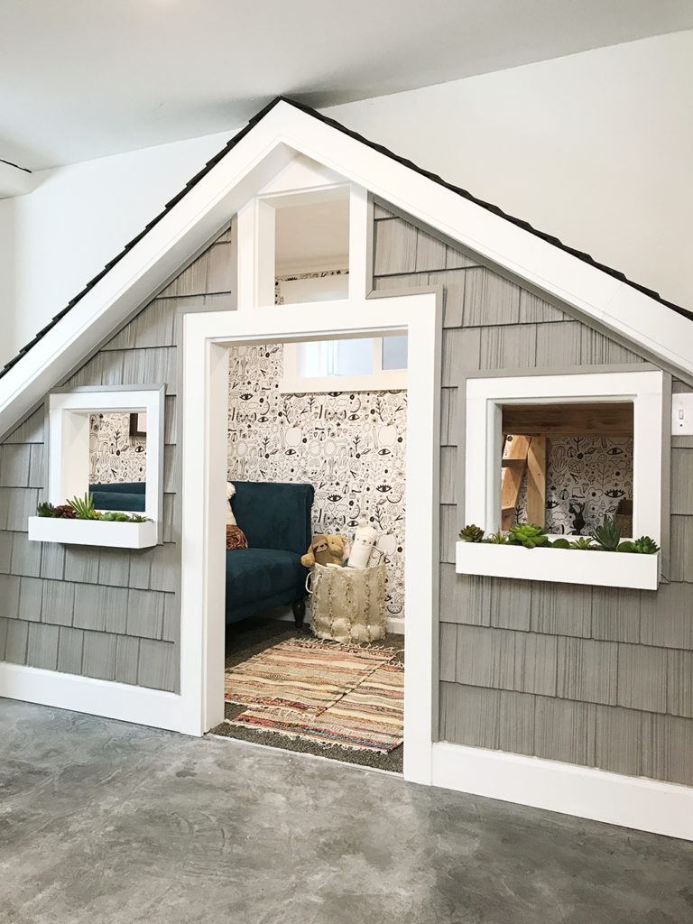 playroom design, playroom inspiration for kids, toy organization, under the stairs playhouse, custom build home, modern playroom design