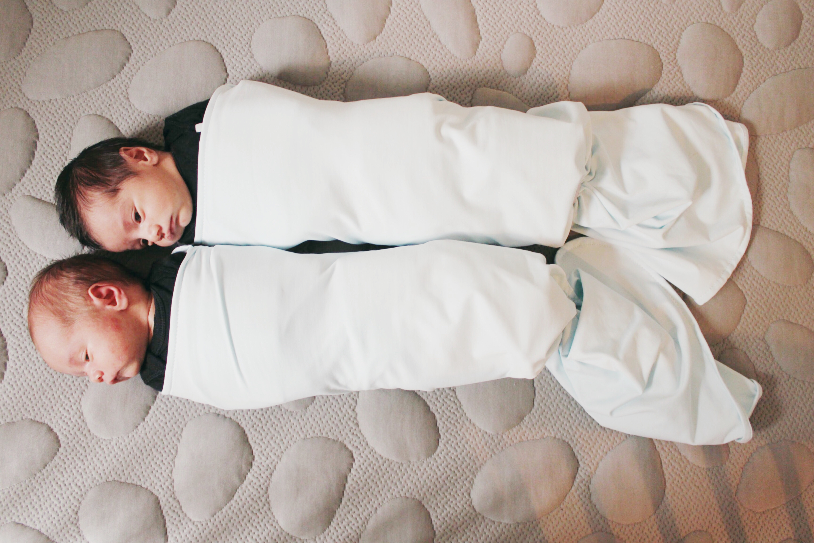 twins in swaddle