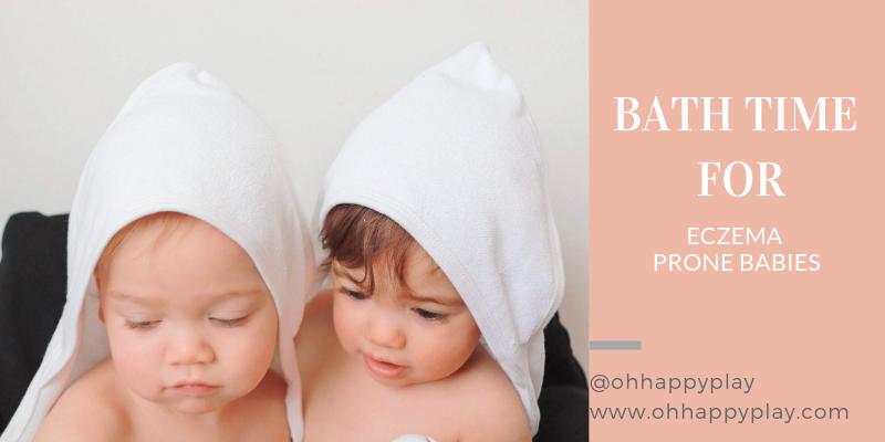 Organic Cotton Terry Hooded Towels, Gerber childrenswear, Gerber baby, Gerber brand, Bath Time For Eczema Prone Babies, Eczema in babies, Eczema kids, bath for Eczema, products for Eczema, oh happy play