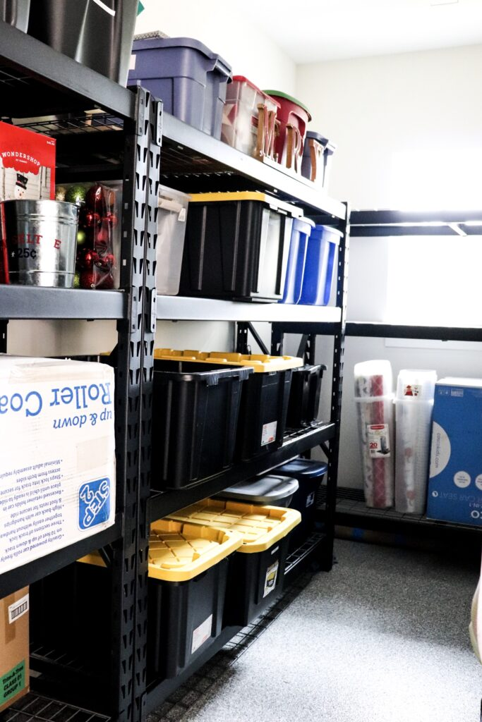 garage steel shelves, sturdy garage shelves, husky garage shelves, declutter garage