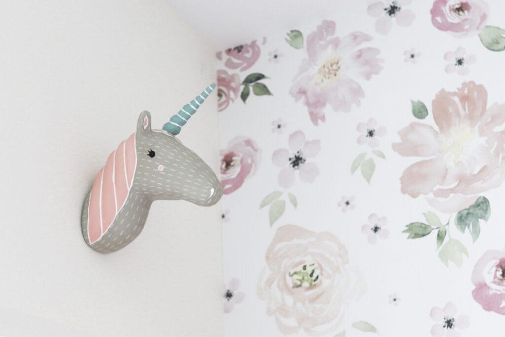 unicorn head for wall, wall art unicorn head, land of nod unicorn head, crate & kids unicorn head