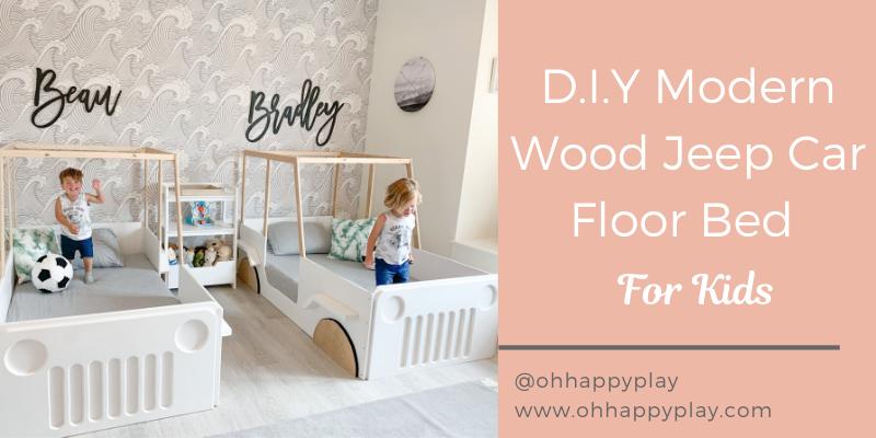 D.I.Y Modern Wood Jeep Car Floor Bed