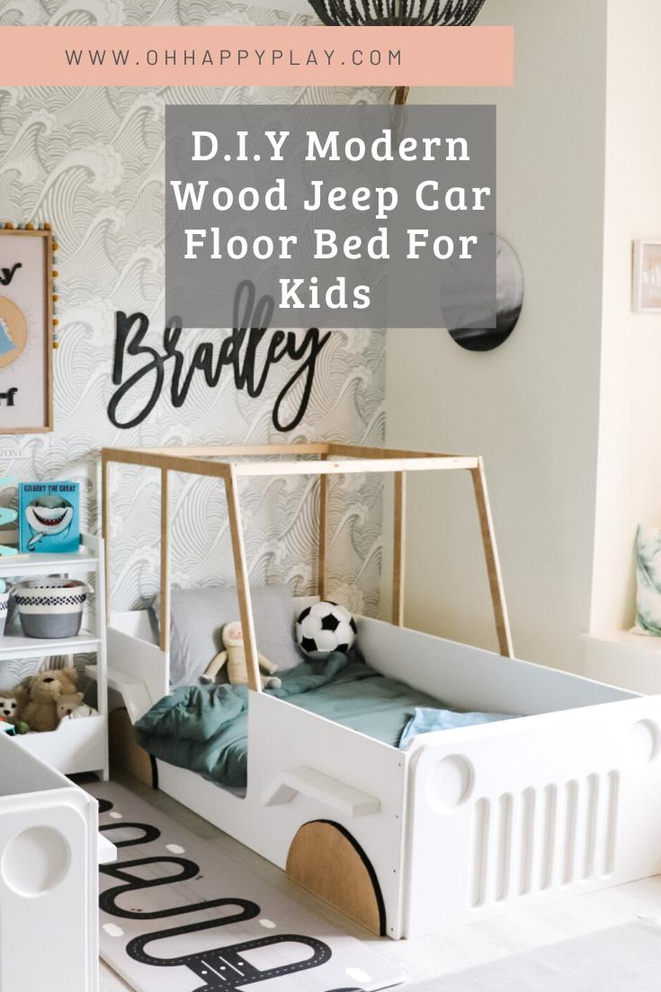 wooden car bed, modern jeep bed, modern floor bed for boys, floor bed for boys, toddler bed for boys, little boy bed, beds for little boys