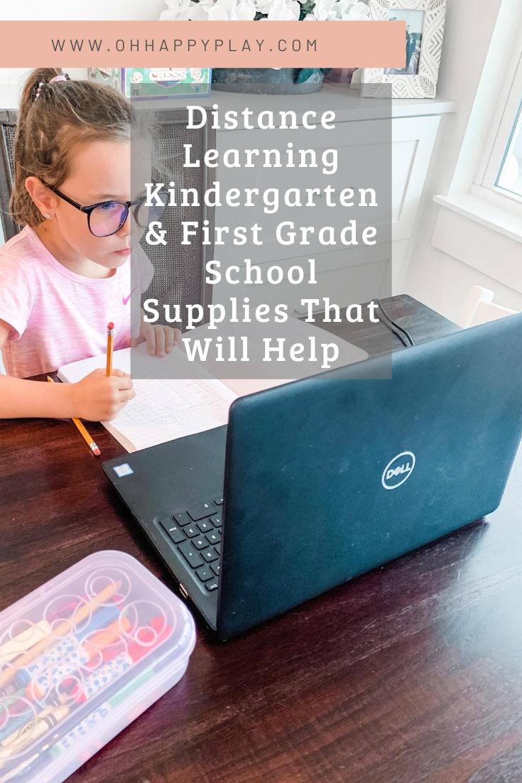 Distance Learning Kindergarten & First Grade School Supplies That Will Help, distance learning supplies