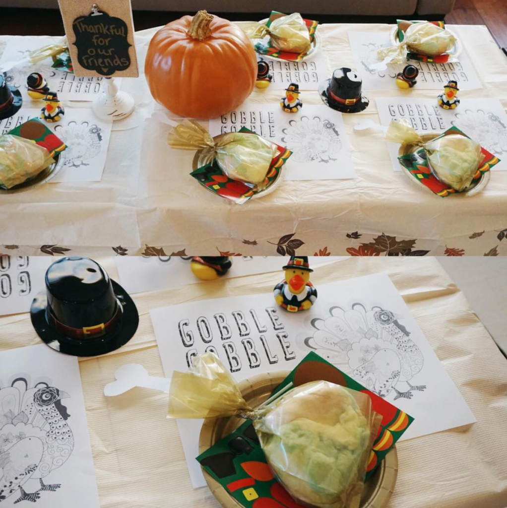 Thanksgiving Crafts, Table & Treats For Kids, kids Friendsgiving, kids table for thanksgiving ideas