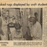 1975  / Sur l'exposition de la guilde le 12 et 13 septembre 1975.___ About The Lakeshore Woolgatherers Hooking Craft Guild Show, September 12-13, 1975. Left to Right: Lois Morris, Doreen McGowan, Lindsay and Mary Mason. Photo by Ralph Emery.