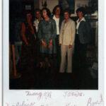 1979 /  Joan Moshimer visite l'exposition de la guilde en 1979___ Lakeshore Hooking Craft Guild 1979 Show. Joan Moshimer visit us! Left to Right: Madeleine Bastien, Marg O'Reilly, Lois Morris, Joan Moshimer, Kay Cousineau, Berverley Sparey