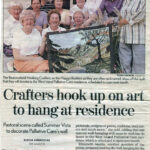 2002 /  The Gazette. September 19, 2002 CRAFTERS HOOK UP ON ART TO HANG AT RESIDENCE About Hooking Crafters Guild donanting a rug to the West Island Palliative Care Residence Photo: Nick Church