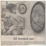 1995 / The Chronicle..  ALL HOOKED OUT.  About 1995 Exhbition at Centennial Hall