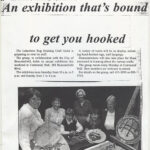 """1995 / The Chronicle.  September 27th, 1995, page C8. AN EXHBITION THAT""""S BOUND TO GET YOU HOOKED.  About the Guild 1995 Show at Centennial Hall."""