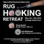 2016_ Retraite de tapisserie de la guilde ___BHCG Rug Hooking Retreat at Ermitage Sainte-Croix