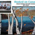 """2017 / Calendrier de l'OHCH 2017-2018: Un tapis de Brenda Ticehurst illustre le mois de septembre!  ___OHCG Calendar 2017-2018: Brenda Ticehurst 's """"Birch Trees"""" illustrates the month of September!"""