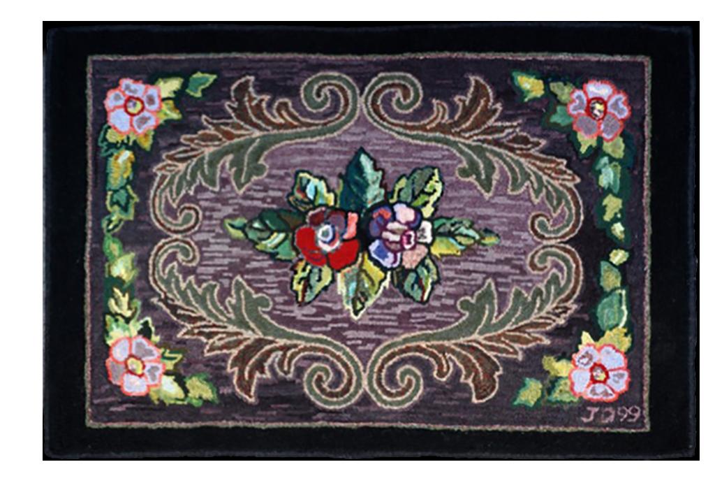 Judith Dallegret. Bluenose. Adaptation d'un tapis traditionnelle de Nouvelle-Écosse