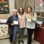 October 2018: Dawna Matthew and Ti Seymour received their Oxford Punch Needle Teaching Certificates from Amy Oxford