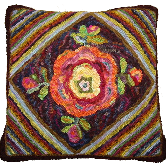 Judith Dallegret. Apothecary Rose.. Pattern by Karen Kahle.