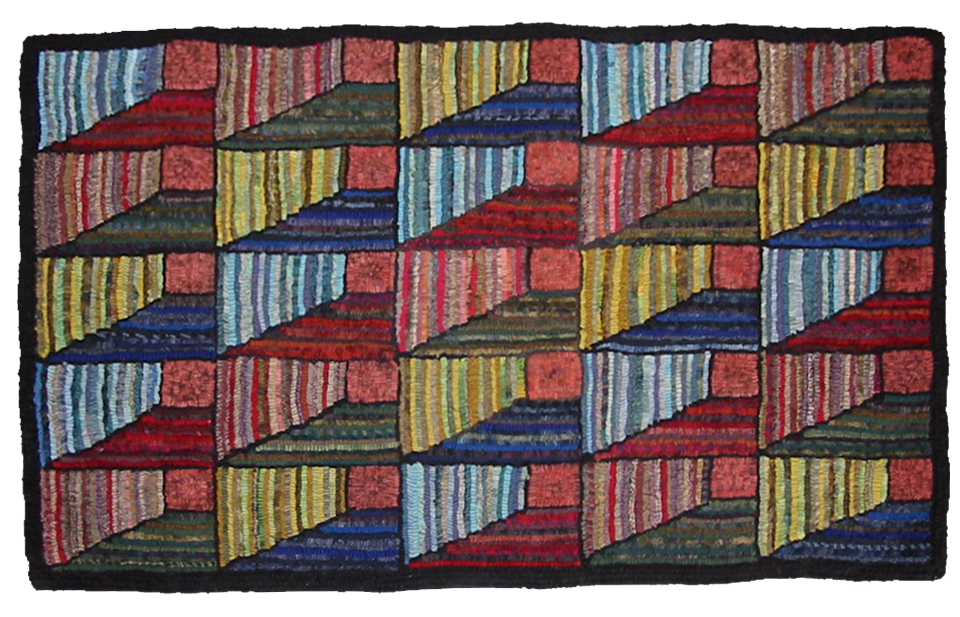 Judith Dallegret. Twisted Ribbons. Traditional antique Attic Window Quilt pattern