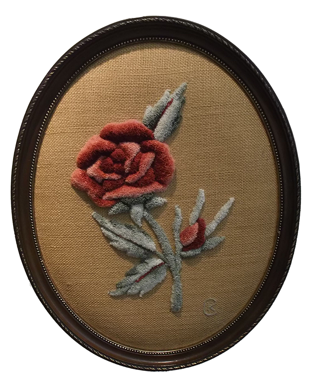 Kay Cousineau.  Carved Victorian Rose.